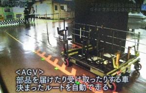 AGVという部品を運ぶ自動運転車