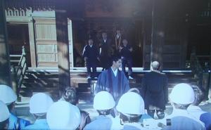 ドラマ5時から9時まで-一橋寺を壊すため、業者とともに、一橋寺へやってきた星川天音