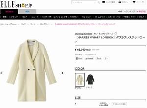 ドラマオトナ女子7話中原亜紀(篠原涼子)衣装白色ロングコート販売サイト