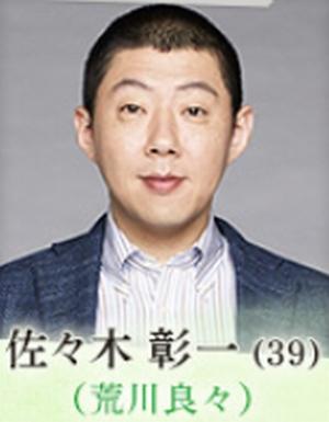 家族ノカタチ(かぞくのかたち)の荒川良々演じる役キャストの佐々木彰一(ささきしょういち)