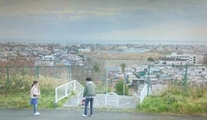 いつ恋1話ロケ地で曽田練(高良健吾)が林田音(杉原音・有村架純)に2060円を返したシーン北海道の高台道路2