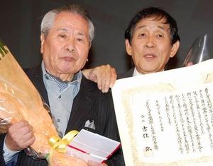 いつ恋5話のタクシーの運転手同士が話していた坂上二郎(左)と相方の欽ちゃん
