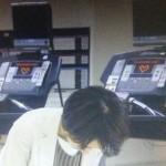 ドラマ世界一難しい恋(セカムズ)第5話トレーニングジムのランニングマシンのディスプレイにハートマークが出ていました。