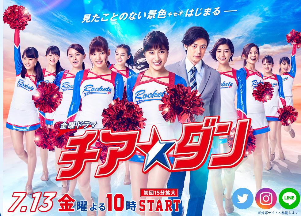2018年7月夏ドラマ「チア☆ダン(チアダン)」土屋太鳳ちゃんは藤谷わかば役として主演を演じます。
