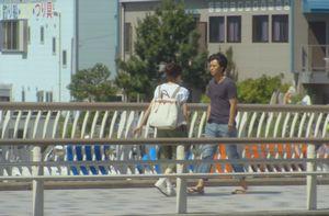 美咲と夏向が歩いた橋でiPod音楽プレーヤーを最大音量にさせられた橋1