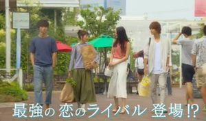 月9好きな人がいること第2話-買い物途中に柴崎千秋と高月楓(菜々緒)が現れてしまう