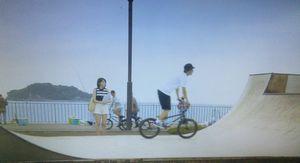 月9ドラマ好きな人がいること-ロケ地うみかぜ公園冬真がBMX自転車の練習をしていた場所のシーン