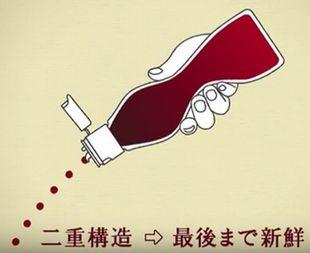 篠原涼子出演CMのキッコーマン生醤油のボトルは二重構造