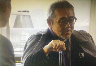 11/7の月9ドラマカインとアベル第4話会長平幹二朗の代役寺尾聰の登場シーン2