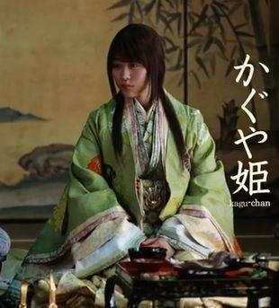 有村架純出演CM-auのガラホ・スマホ・学割等の「三太郎シリーズ」のかぐや姫(かぐちゃん)1