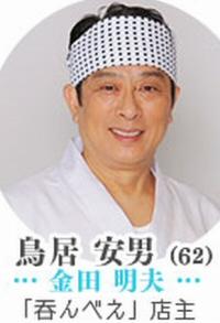 鳥居安男(とりいやすお・62歳):役者は金田明夫~日テレ水10ドラマ「東京タラレバ娘」