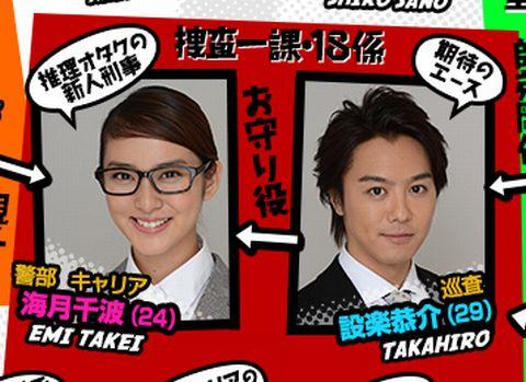 2014年1月期の日テレ系のドラマ「戦力外捜査官」武井咲とEXILEのTAKAHIROがダブル主演をつとめ、交際・結婚のきっかけとなった。