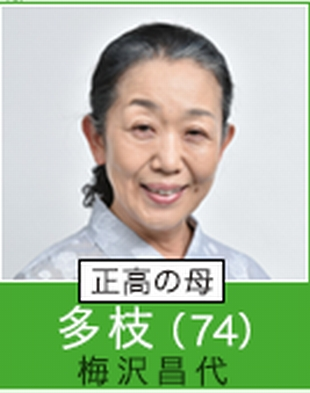 根本加穂子カホコのおばあちゃん。多枝(梅沢昌代)ドラマ「過保護のカホコ」キャスト