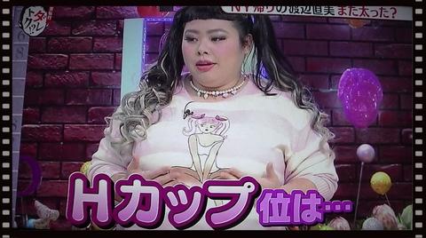 渡辺直美(カンナさん)カップ・バストサイズと身長体重スリーサイズは?Hカップと判明
