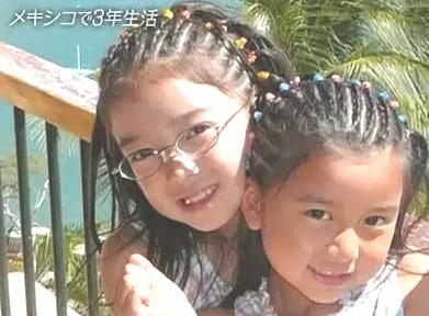 2018/6/10に放映されたおしゃれイズム。左が上白石萌音さんで右が上白石萌歌さん小学生時代にメキシコで3年生活