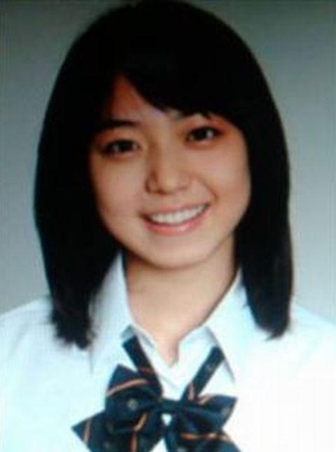 中村静香の高校生時代の卒アル写真画像