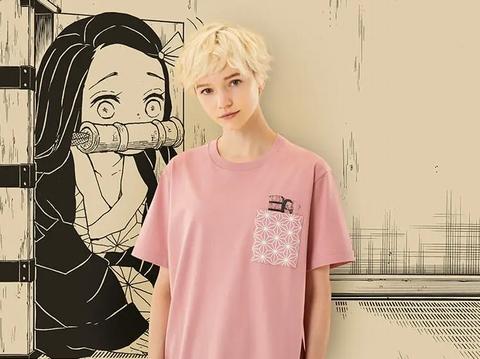 ユニクロTシャツ~マンガ UT 鬼滅の刃・禰豆子(半袖・レギュラーフィット)