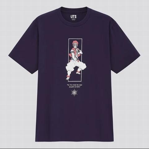 ユニクロTシャツ~マンガ UT 鬼滅の刃・猗窩座(半袖・レギュラーフィット)
